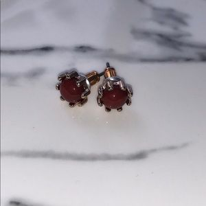 Jewelry - Red and gold earrings